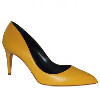 Rupert Sanderson Nada Mustard Mid Heel Leather Pumps