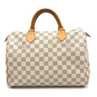 Louis Vuitton Speedy 30 Damier Azur Canvas Bag
