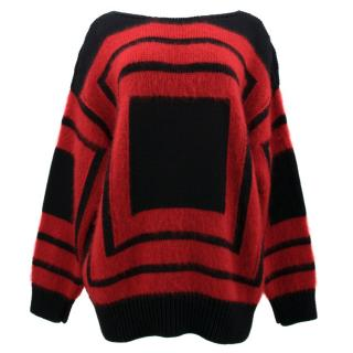 Alexander McQueen Red and Black Jumper