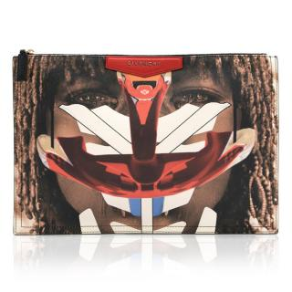 Givenchy Tribal Girl Leather Clutch