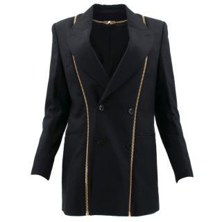 Alexander McQueen Black and Gold Zip Blazer