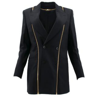 Alexander McQueen Black and Gold Zip Blazer