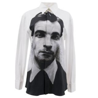 Alexander McQueen Portrait Print White Shirt