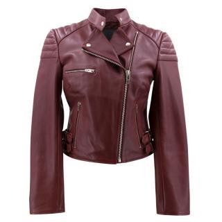 Alexander McQueen Cropped Biker Jacket
