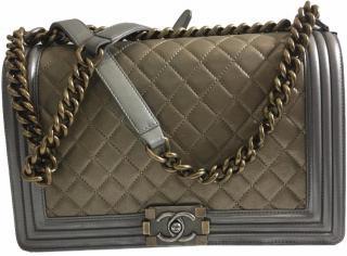 Chanel Bicolor Metallic Boy Bag From SS14