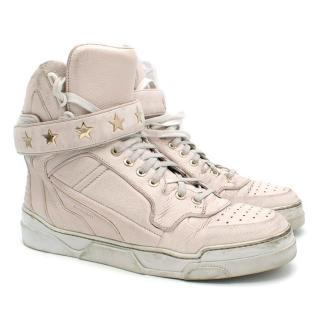 Givenchy Light Pink Leather Hi-Top Trainers