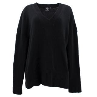 McQ Alexander McQueen Black V-neck Wool Jumper