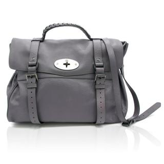 Mulberry Alexa Oversized Grey Satchel Bag