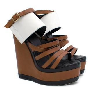 Pierre Hardy Brown Platform Wedges