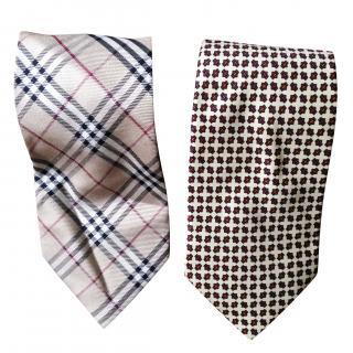 Burberry Nova Print Tie x 2