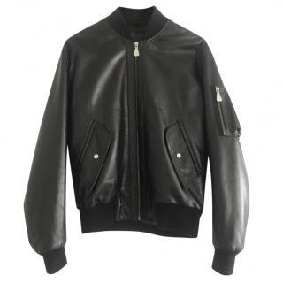 McQ Alexander McQueen leather bomber jacket