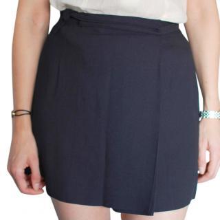 Max Mara Navy Woolen Skirt