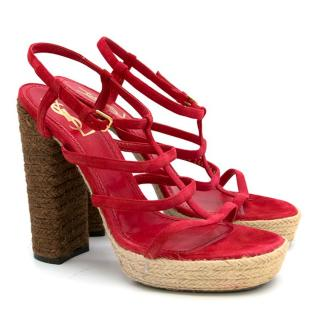 YSL Red Heeled Sandals