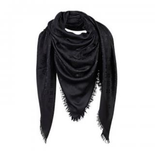 Louis Vuitton Black Shawl Scarf