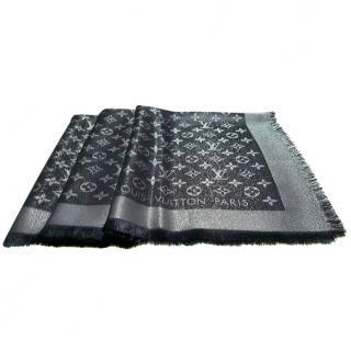 Louis Vuitton Black Silver Shine Shawl Scarf