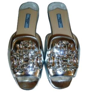 Prada Embellished Sandals