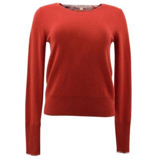 Burberry Brit Red Cashmere Jumper