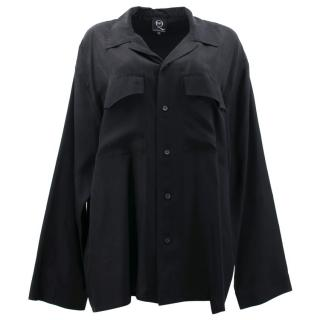 McQ Alexander McQueen Black Silk Shirt