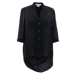Helmut Lang Black Frayed Shirt