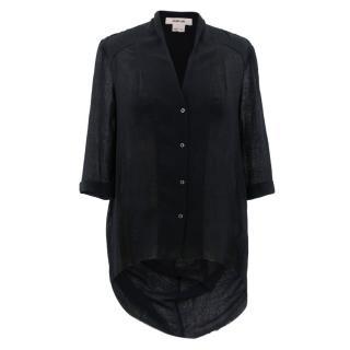 Helmut Lang Black Frayed Shirt