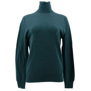 McQ Alexander McQueen Hunter Green Turtle Neck Jumper
