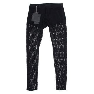 Philipp Plein Black Lace Trousers
