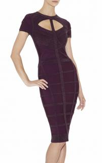 Herve Leger 'Silva' Multitexture Cutout Bandage Dress (Runway Collecti
