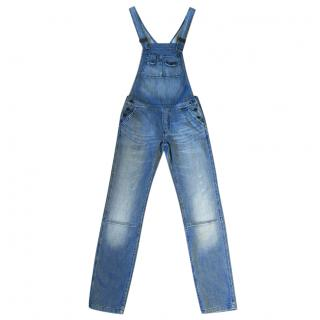 ZADIG & VOLTAIRE 'Pensee jeans' distressed dungarees/overalls