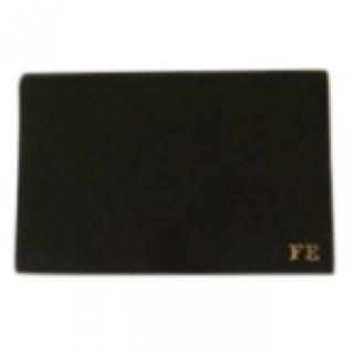 Hermes signed black leather Hermes cigarette case with initials - FE