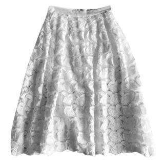 Maje Floral Ruffle Skirt
