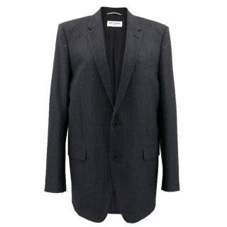Saint Laurent Oversized Pinstriped Unisex Blazer