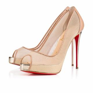 Louboutin 'Very Rete' peep toe sandals
