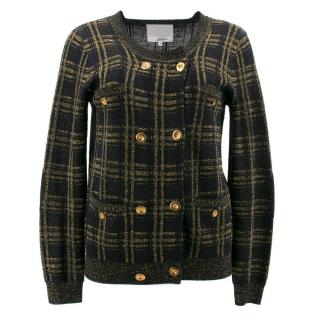 Phillip Lim Black and Gold Pattern Cardigan