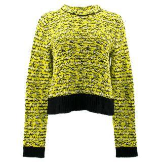Rag & Bone Yellow, White and Black Long- Sleeve Jumper