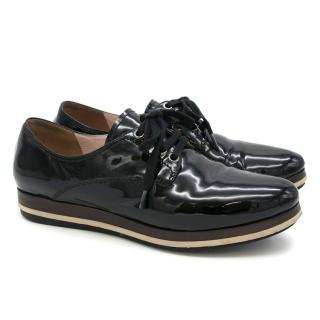Miu Miu Black Patent Leather Brogues
