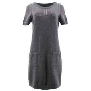 Chanel Grey Cashmere Dress