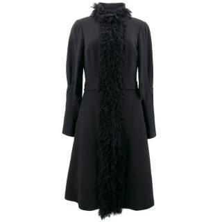 Malene Birger Black Wool Coat