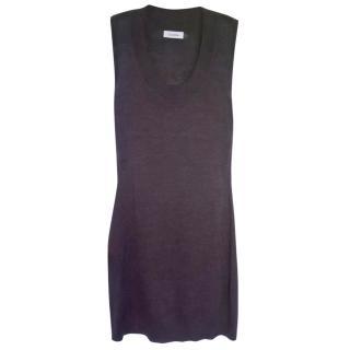 Calvin Klein brown woollen dress