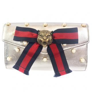 Gucci Broadway Clutch Lionhead on Military Ribbon