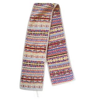 YMC, You Must Create, Pure Merino Wool Fairisle scarf, 1.6m long