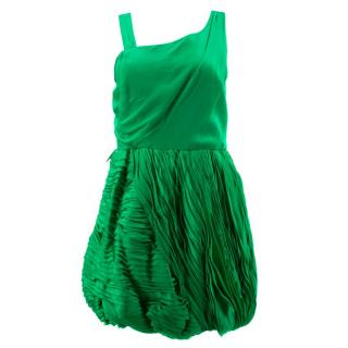 Alice and Olivia Green Silk Dress