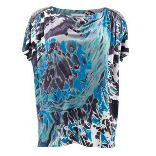 Emilio Pucci Blue Pattern Top