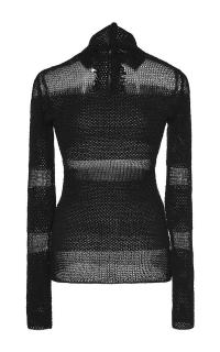 Proenza Schouler woven mesh turtleneck Top