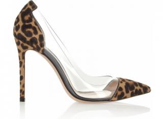 Gianvito Rossi brown leopard plexi pumb