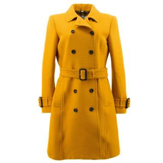 Burberry Yellow Trench Coat