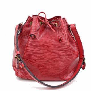 Louis Vuitton Petit Noe Epi Red Shoulder Bag