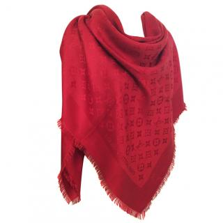 Louis Vuitton Red Scarf