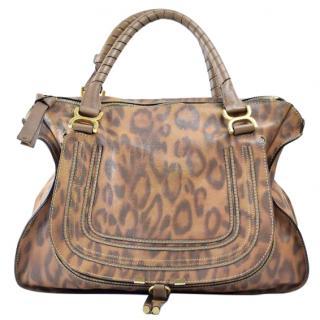 Chloe Marcie  Brown Leather Shoulder Bag