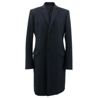 D&G Dolce & Gabbana Navy Wool Coat