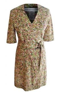 Diane Von Furstenberg Berries Motif Wrap Dress